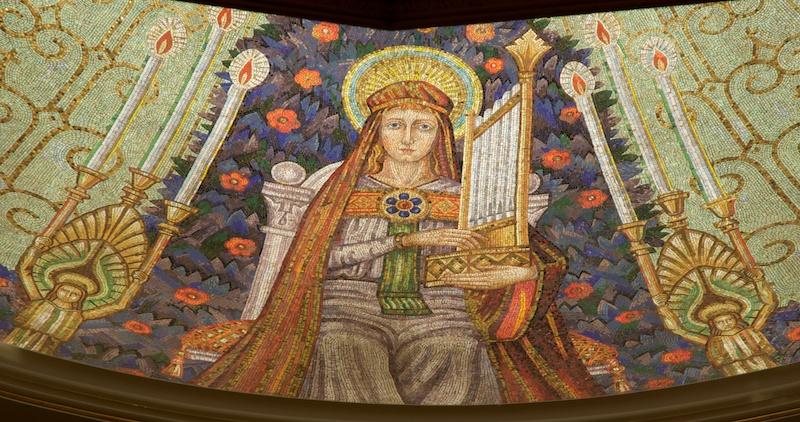 Saint Cecilia in Sanctuary Mosaic